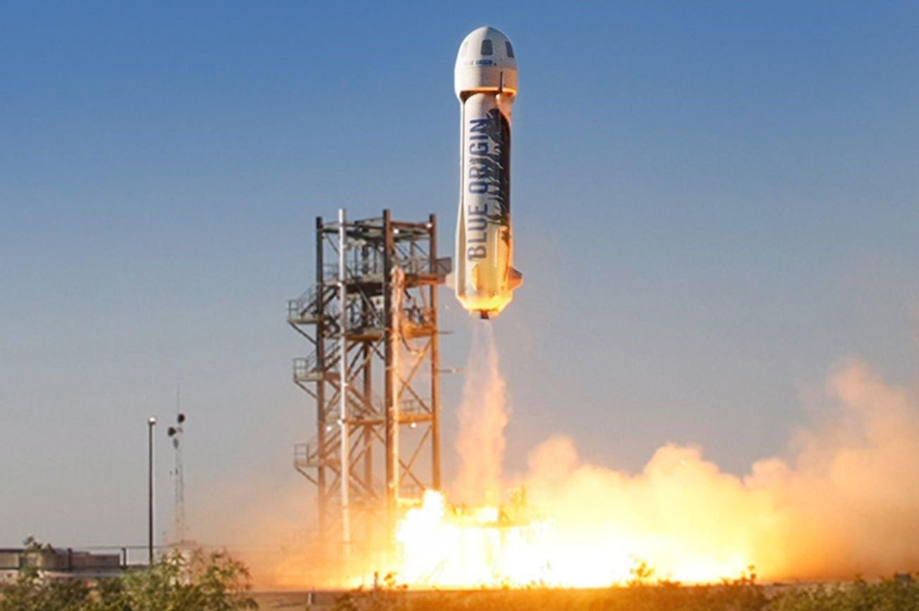 پرتاب و فرود موفق فضاپیمای جدید بلو اوریجین [تماشا کنید]