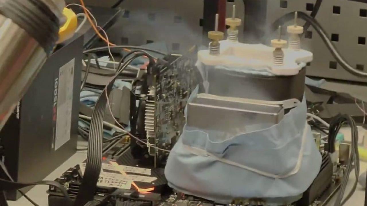 اورکلاک نسل آینده پردازنده پرچمدار اینتل تا ۶.۹ گیگاهرتز با استفاده از نیتروژن مایع