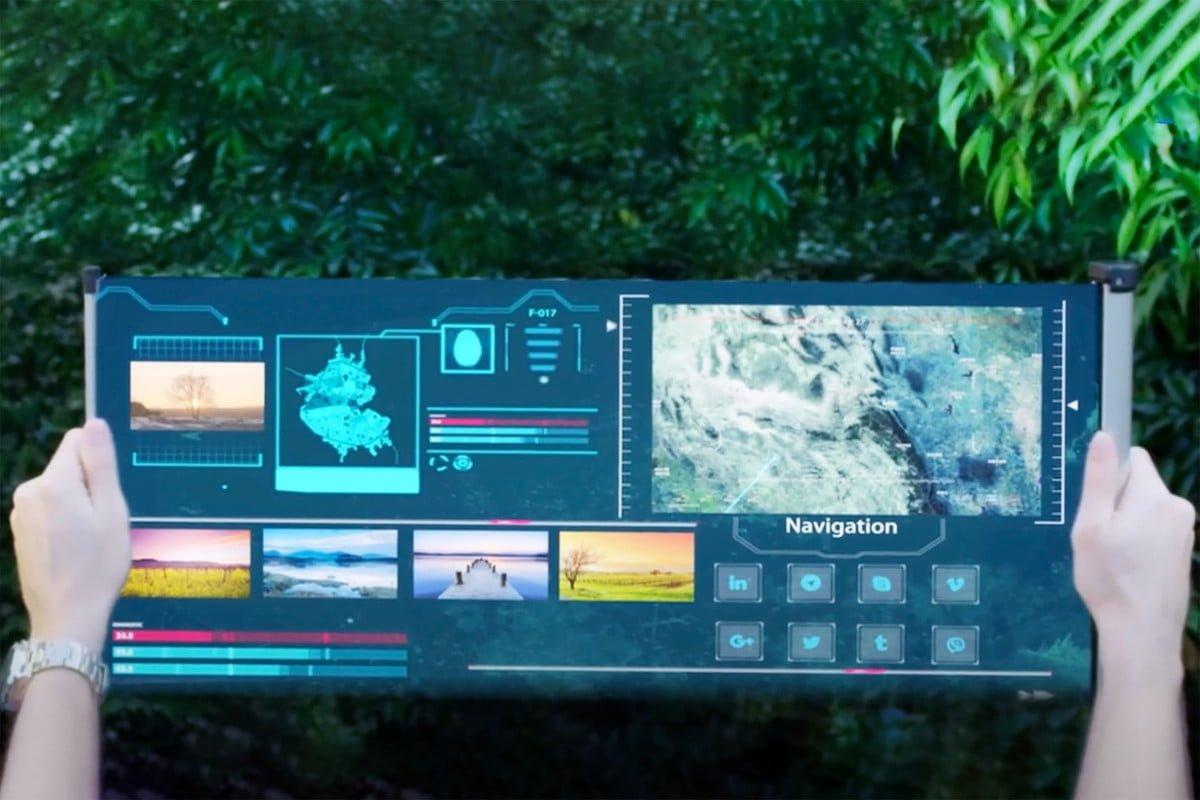 TCL و رونمایی از تبلت مفهومی با نمایشگر رولشونده ۱۷ اینچی