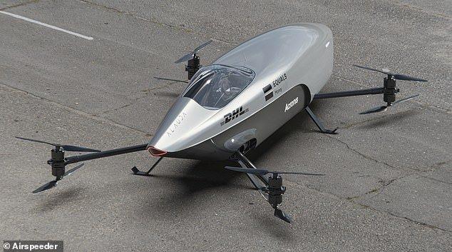 «ایراسپیدر» معرفی شد؛ نخستین خودروی مسابقهای پرنده با سرعت ۱۲۰ کیلومتر در ساعت