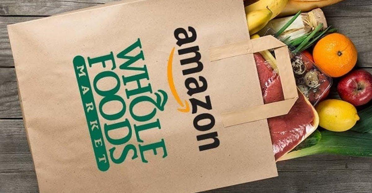 Amazon Whole Foods Prime Now grocery bag 1 w1200 از کتابفروشی تا ستون فقرات اینترنت؛ مرور ۲۵ سال مدیریت جف بزوس بر آمازون اخبار IT
