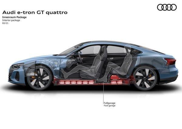 Audi e tron GT quattro 2022 16 آئودی e tron GT با طراحی خیرهکننده معرفی شد؛ همزاد پورشه تایکان، رقیب تسلا مدل S اخبار IT