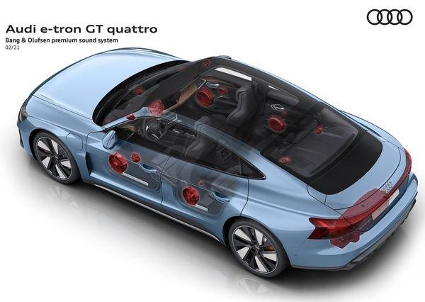 Audi e tron GT quattro 2022 18 آئودی e tron GT با طراحی خیرهکننده معرفی شد؛ همزاد پورشه تایکان، رقیب تسلا مدل S اخبار IT