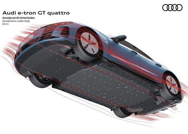 Audi e tron GT quattro 2022 28 آئودی e tron GT با طراحی خیرهکننده معرفی شد؛ همزاد پورشه تایکان، رقیب تسلا مدل S اخبار IT