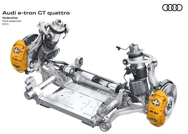 Audi e tron GT quattro 2022 33 آئودی e tron GT با طراحی خیرهکننده معرفی شد؛ همزاد پورشه تایکان، رقیب تسلا مدل S اخبار IT