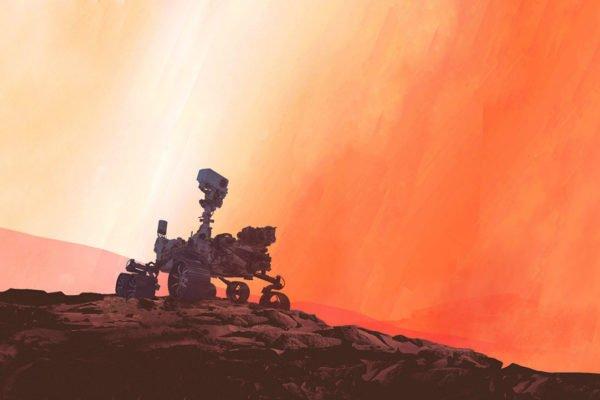 سیاره سرخ از نگاه مریخنورد استقامت چه شکلی است؟