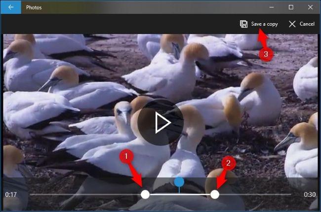 ویرایش فیلم با برنامه Video Editor