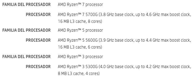 پردازندههای دسکتاپ AMD Ryzen 5000G