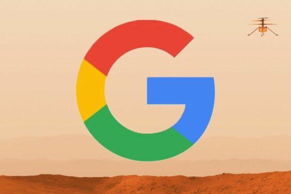گوگل با پرواز هلیکوپتر نبوغ در صفحه جستجوها، به استقبال موفقیت ناسا رفت