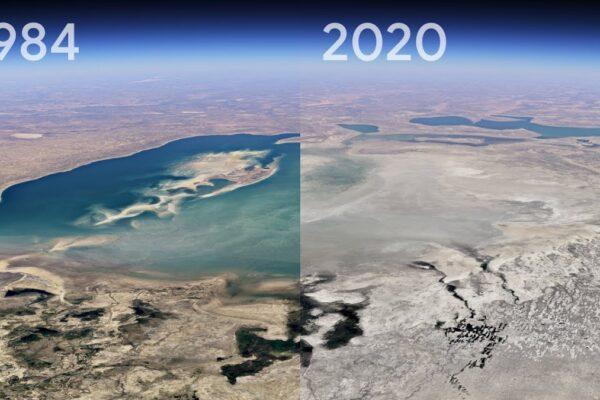 ویدیو تایم لپس گوگل ارث از ۳۷ سال تغییرات کره زمین  [تماشا کنید]