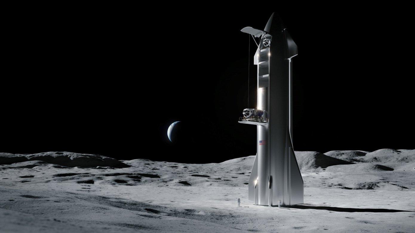 اسپیس ایکس سیستم فرود انسان روی ماه را میسازد