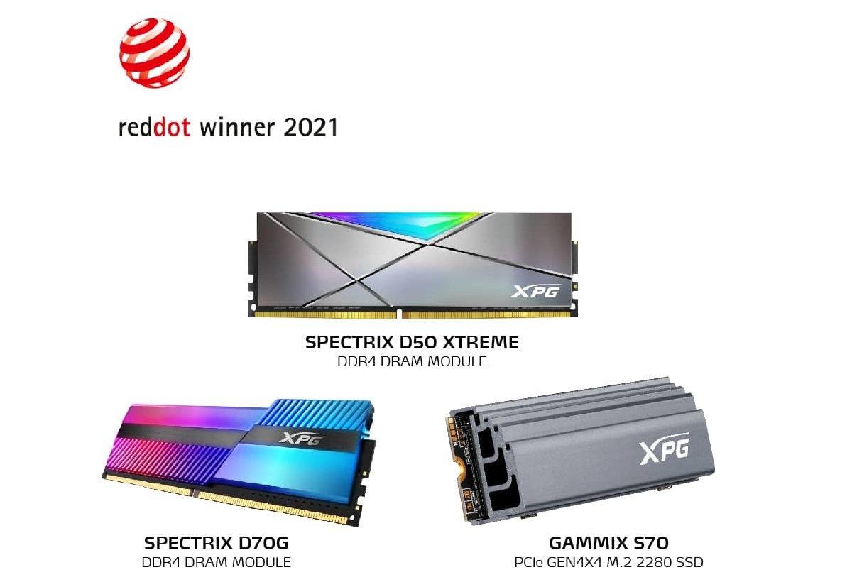 سه جایزه طراحی محصول Red Dot Awards به XPG اختصاص یافت
