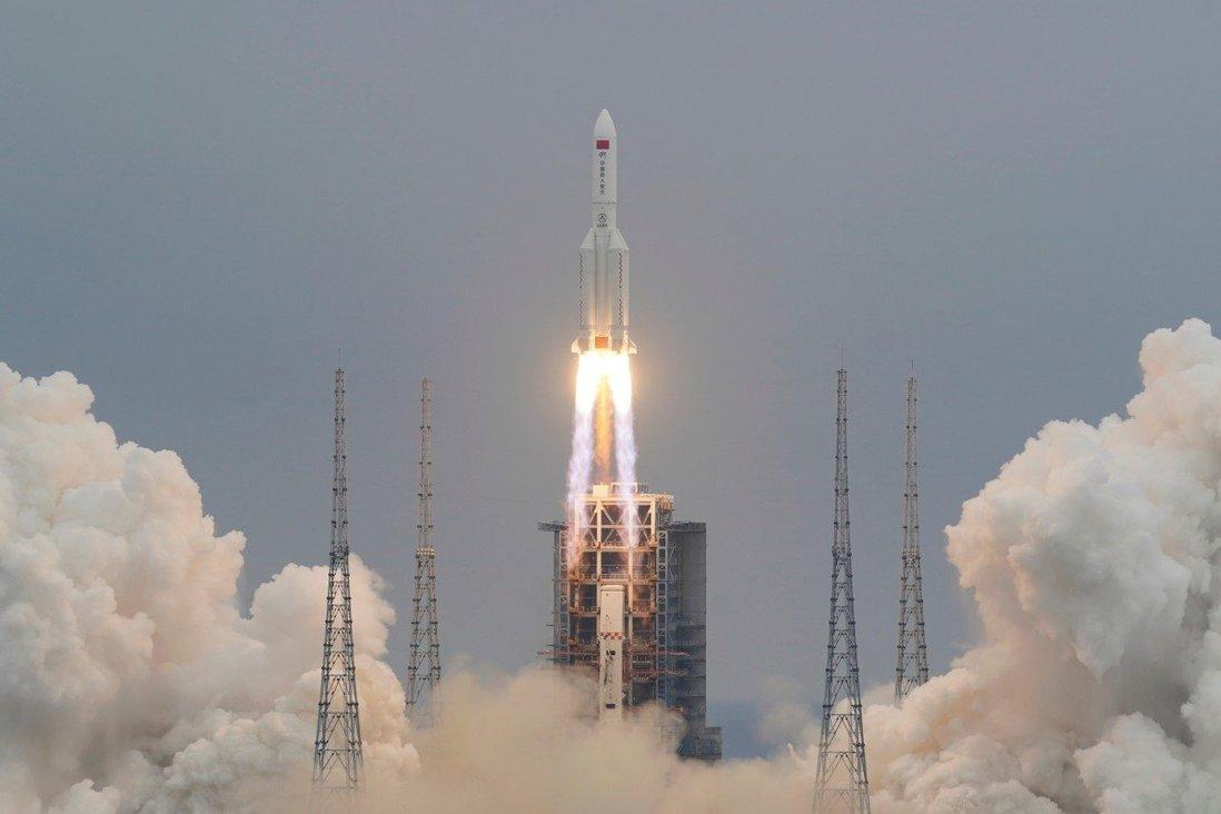 راکت «لانگ مارچ 5B» چین در اقیانوس هند سقوط کرد