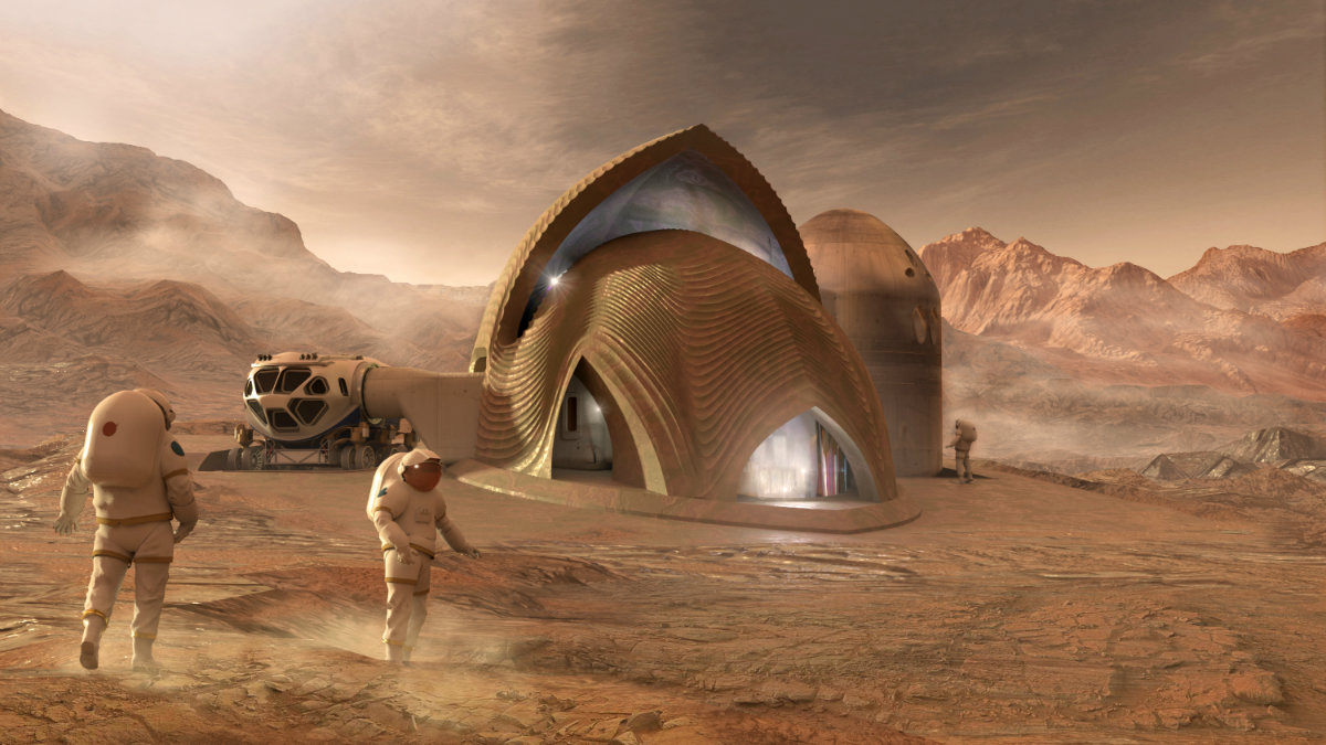 چطور میتوان با منابع بومی مریخ و پرینت سهبعدی، برای فضانوردان زیستگاه ساخت؟