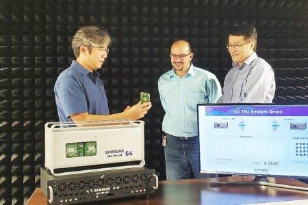 سامسونگ برای اولین بار پتانسیلهای شبکه تراهرتزی 6G را به نمایش گذاشت
