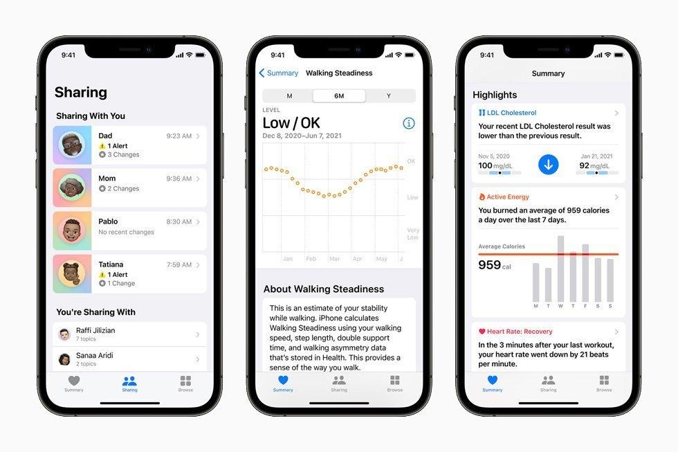 اپل Health قابلیت اشتراکگذاری اطلاعات سلامتی را فراهم خواهد کرد