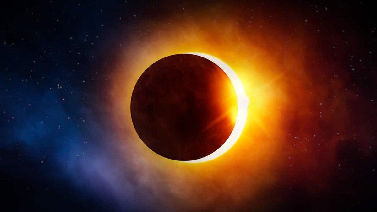 ویدیو و تصاویر جذاب و دیدنی از خورشید گرفتگی «حلقه آتش» [تماشا کنید]