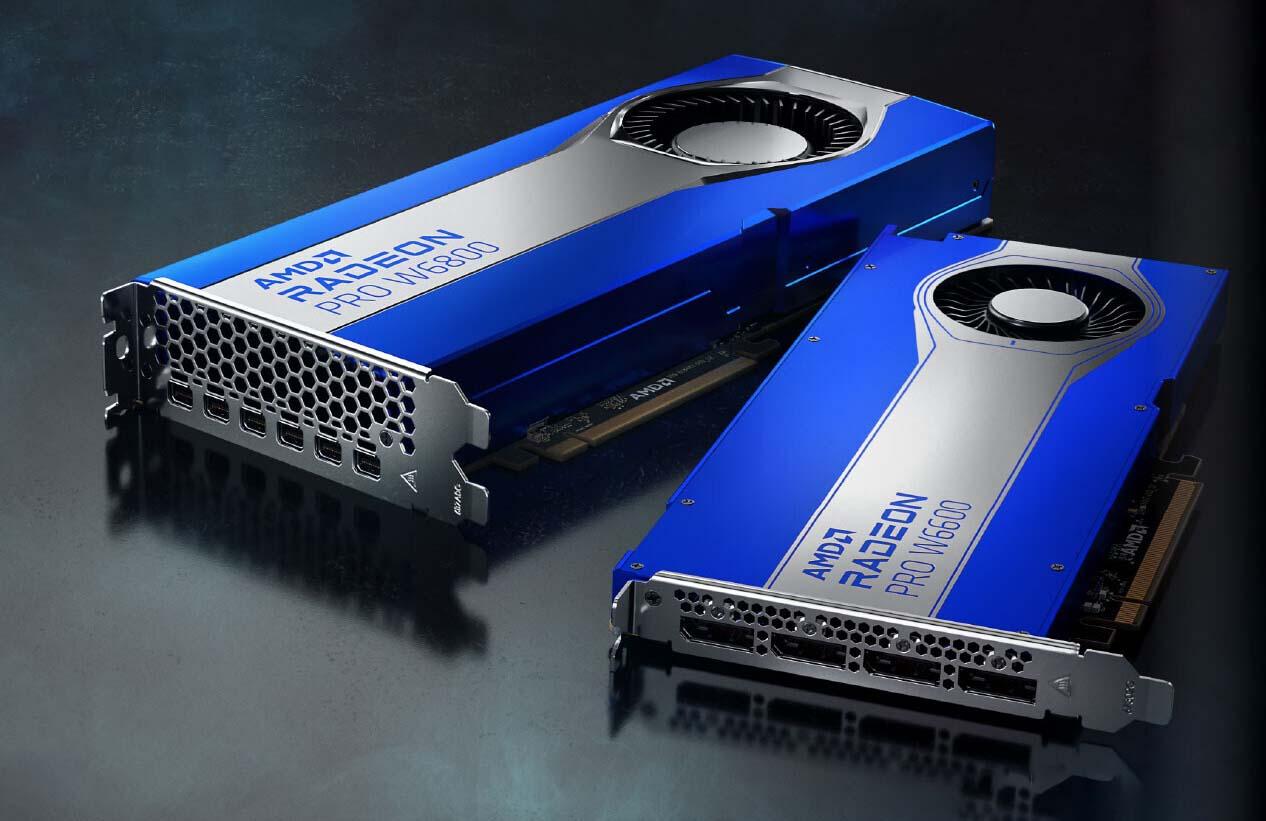 AMD از کارتهای گرافیک رادئون پرو W6000 با معماری RDNA 2 رونمایی کرد