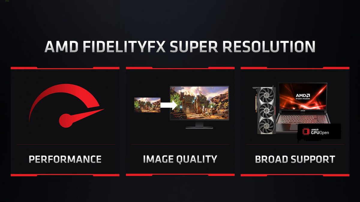 AMD از فناوری FSR رونمایی کرد: رقیب DLSS انویدیا با هدف افزایش فریم ریت بازیها