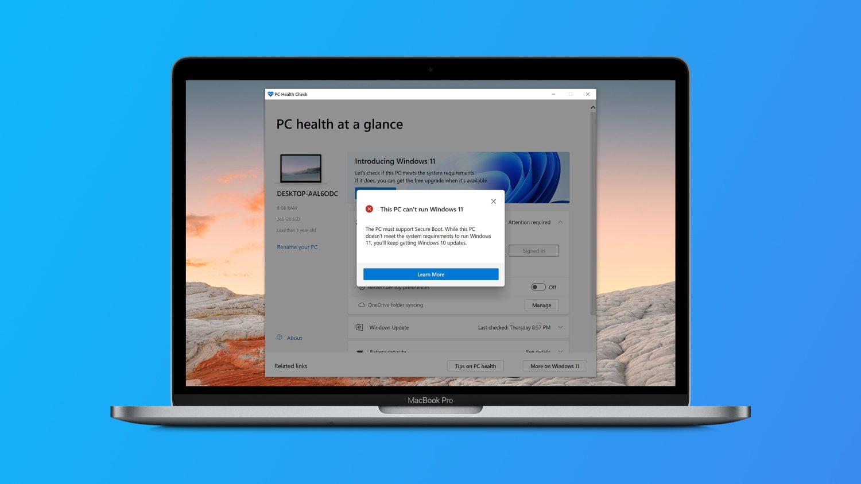 مکهای مجهز به پردازندههای اینتل بطور رسمی از ویندوز ۱۱ پشتیبانی نمیکنند