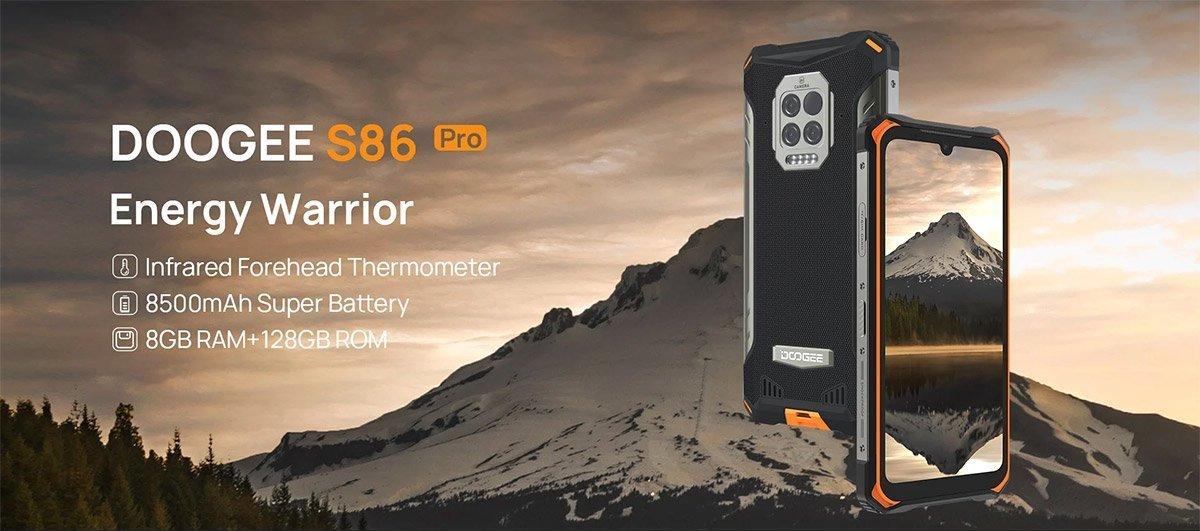 دوجی S86 پرو با باتری ۸۵۰۰ میلیآمپر ساعتی و مجهز به دماسنج معرفی شد