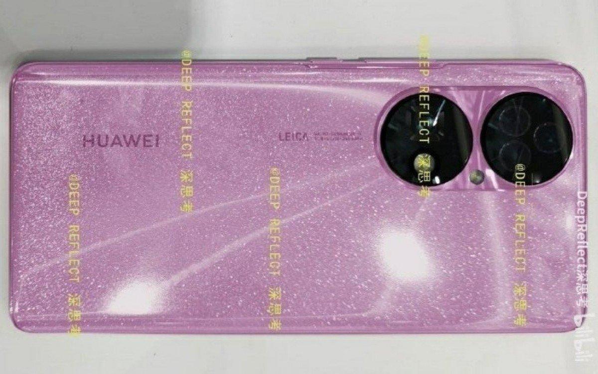 افشای اولین تصاویر زنده هواوی P50 با رنگ صورتی