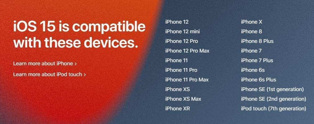 iOS 15 آیفون
