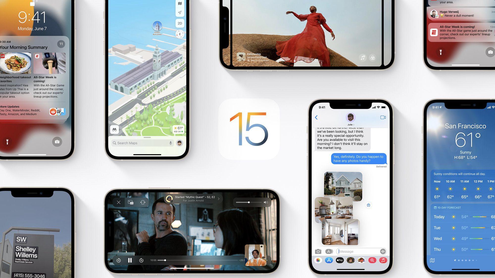اپل از سیستم عامل iOS 15 با قابلیتهای جدید رونمایی کرد