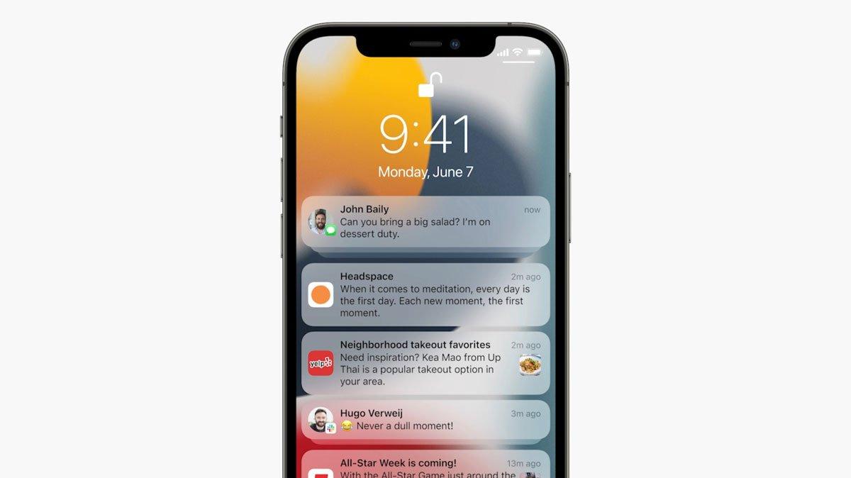 اپل امکانات شخصیسازی نوتیفیکیشنها در iOS 15 را بیشتر میکند