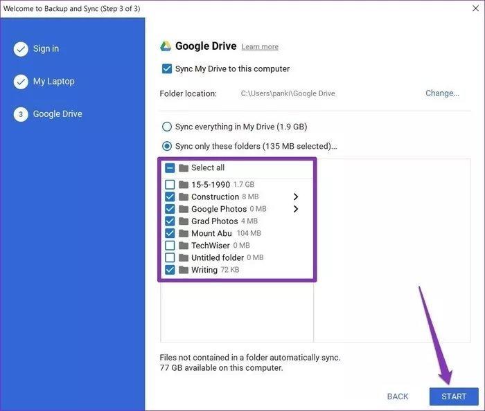 گوگل درایو ویندوز ۱۰