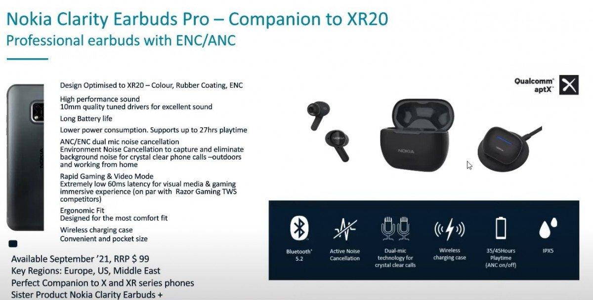 ایرباد بیسیم نوکیا Clarity Earbuds Pro