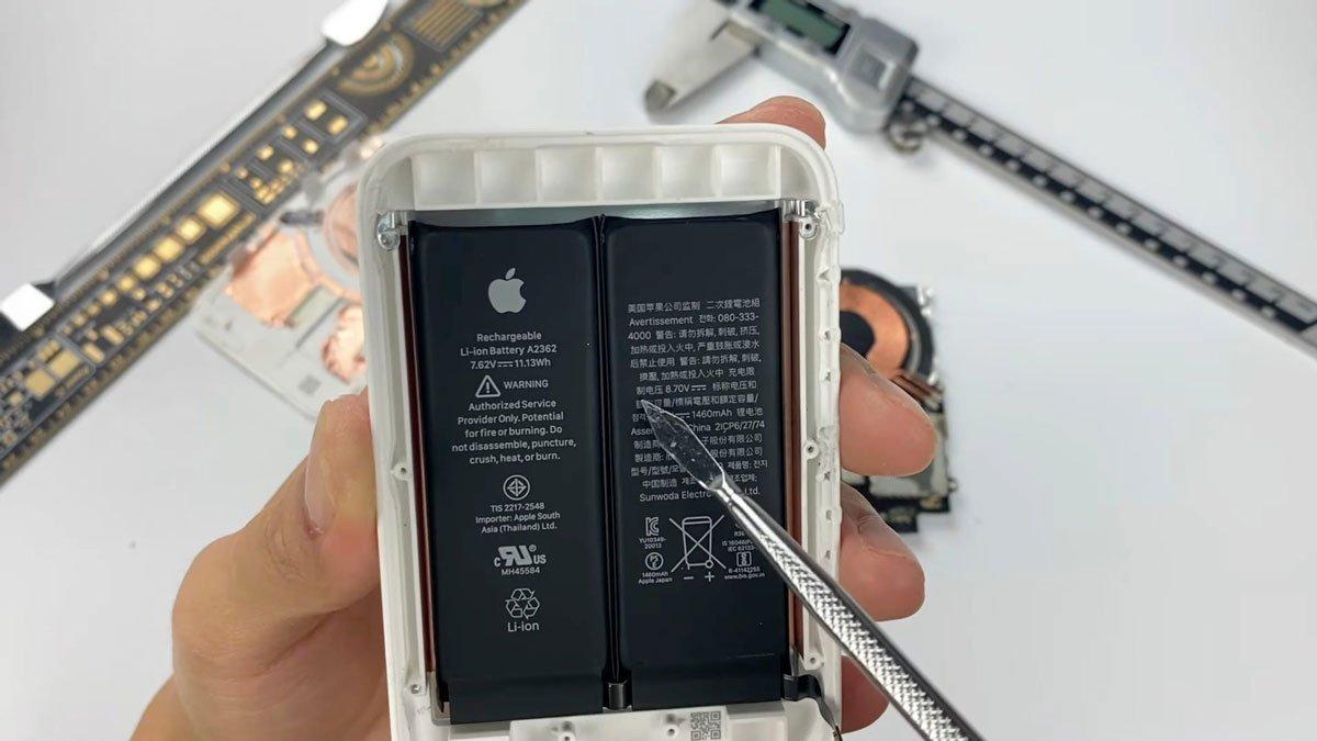 کالبدشکافی «مگ سیف باتری پک» اپل از باتری دو سلولی خبر میدهد [تماشا کنید]