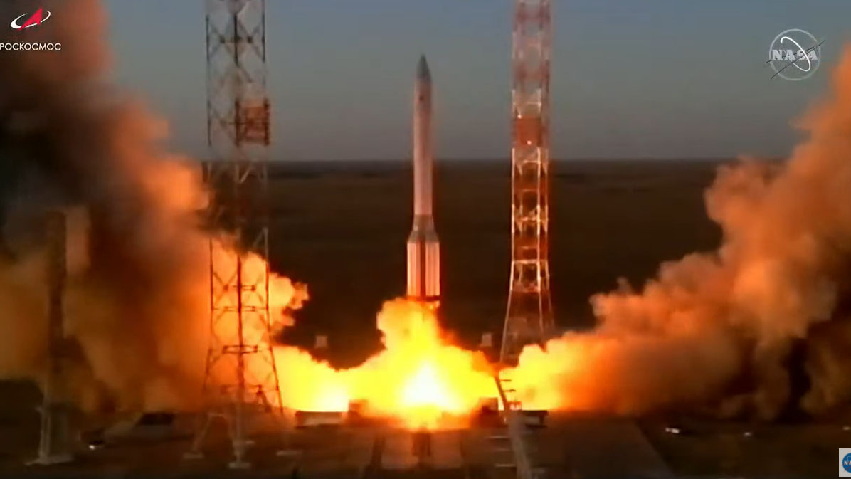 ماژول تحقیقاتی روسیه پس از ۱۴ سال تاخیر به ایستگاه فضایی پرتاب شد