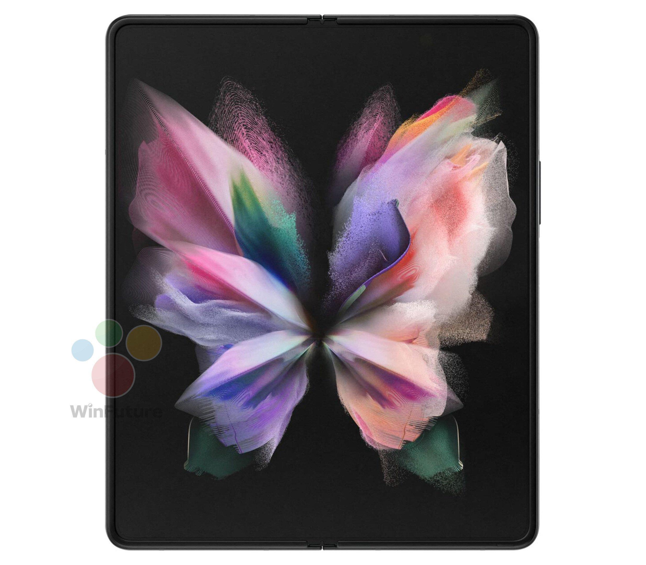 رندرهای جدیدی از گلکسی زد فولد ۳ در ترکیب رنگ مشکی منتشر شد