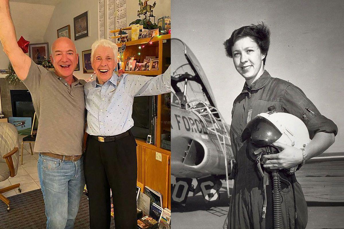 داستان رویای ۶۰ ساله زنی که به کمک جف بزوس مسنترین فضانورد جهان میشود
