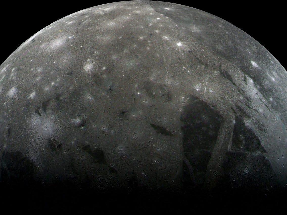 برای اولین بار شواهدی از وجود بخار آب در بزرگترین قمر مشتری کشف شد