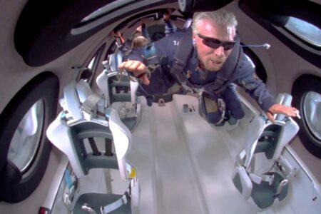 ویرجین گلکتیک ویدیویی از تجربه بیوزنی مسافران ماموریت یونیتی ۲۲ منتشر کرد