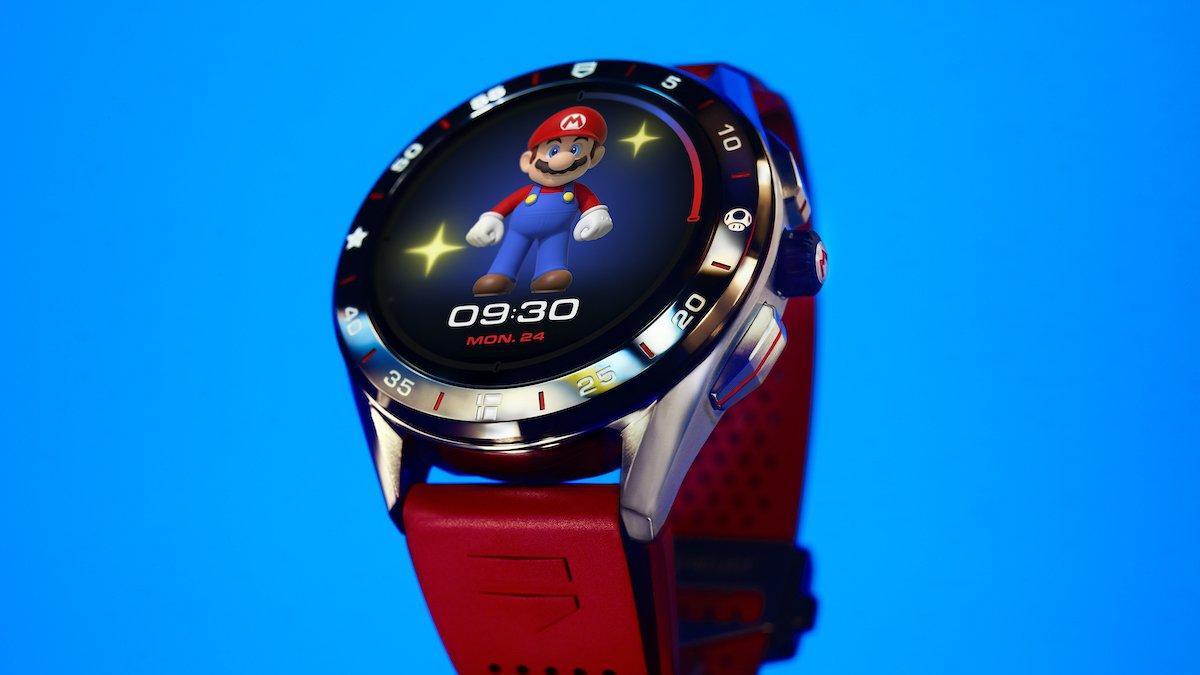 تگ هویر از ساعت هوشمند ویژهای با تم بازی سوپر ماریو پرده برداشت