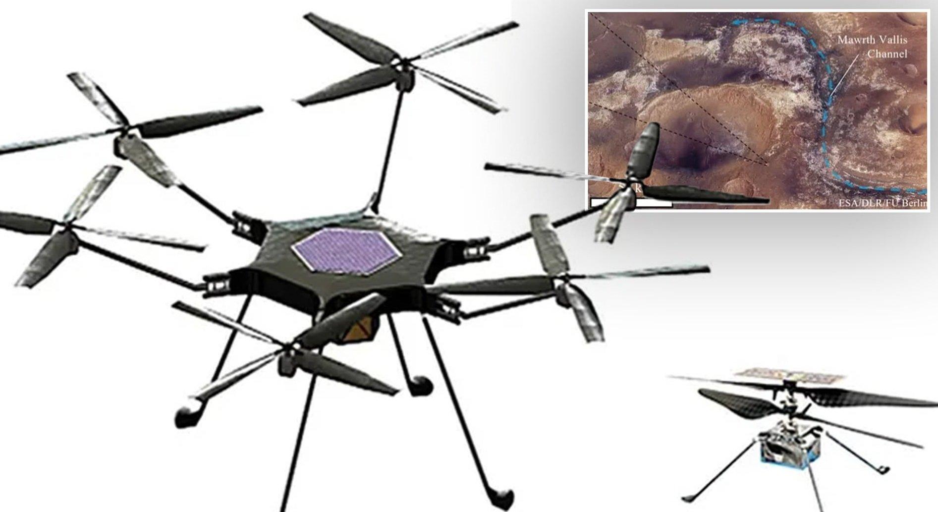 ناسا در حال طراحی هلیکوپتر جدید مریخی است