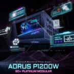 گیگابایت از منبع تغذیه AORUS P1200W مجهز به نمایشگر LCD رونمایی کرد