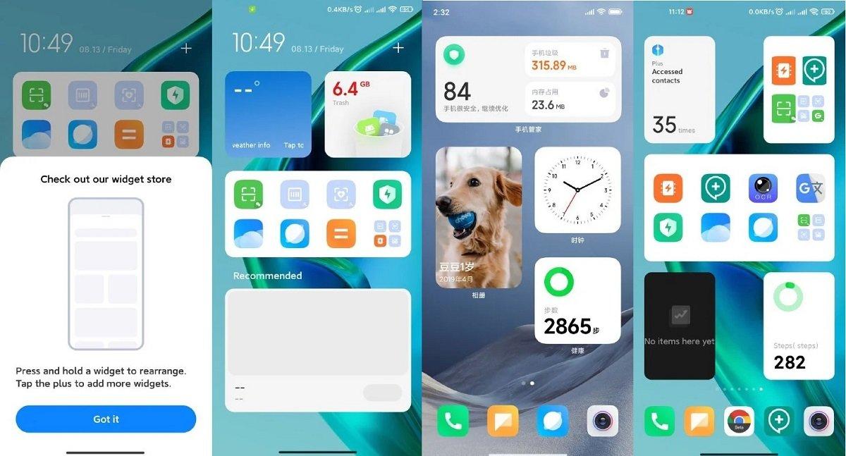 شیائومی یک سیستم ویجت شبیه به iOS را برای MIUI آزمایش میکند