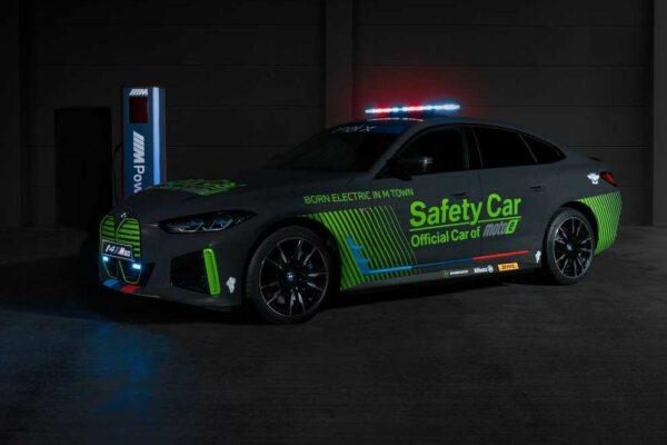 خودروی ایمنی بامو i4 M50 معرفی شد؛ تبلیغات ویژه محصولات برقی در مسابقات اتومبیلرانی