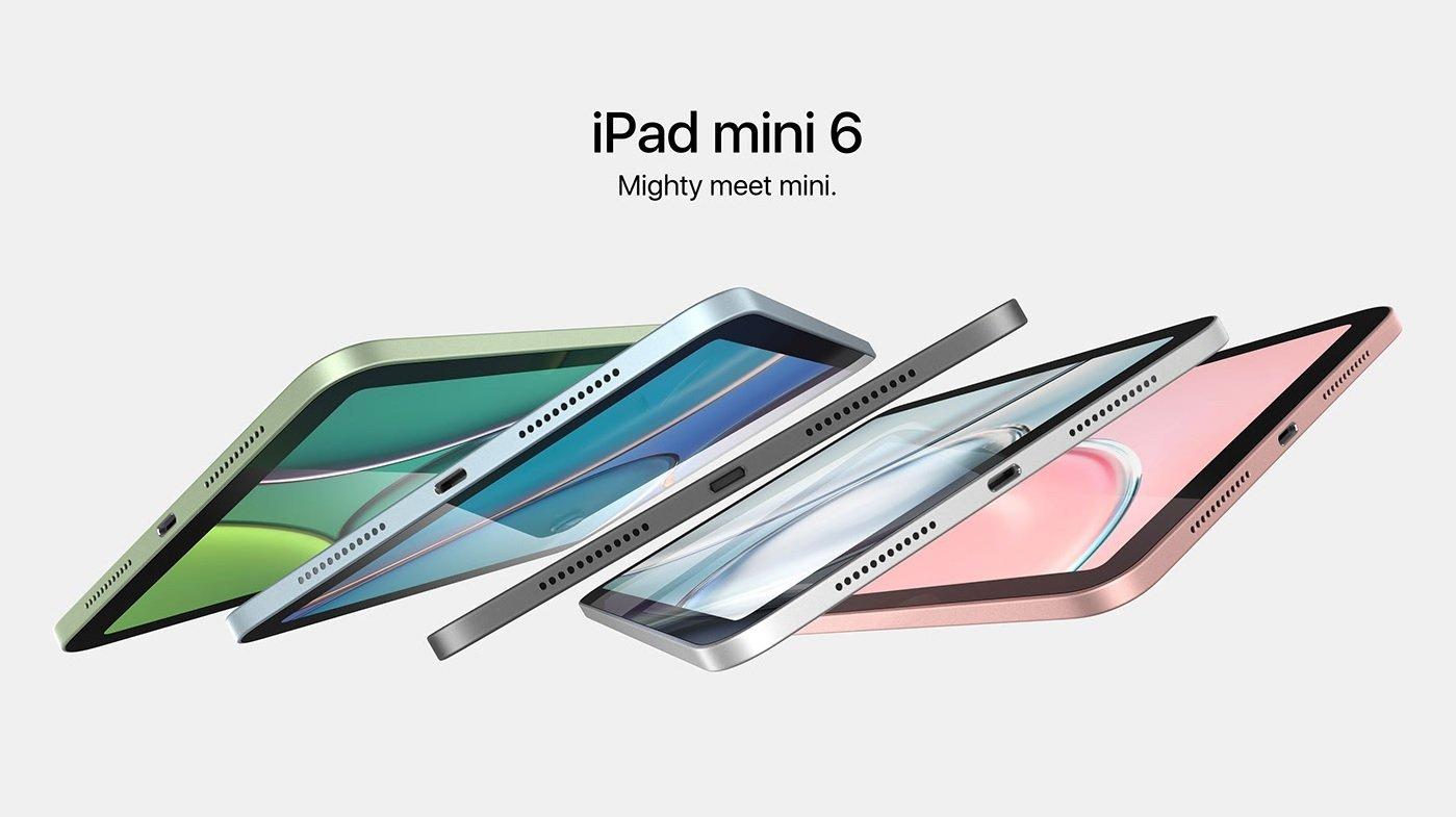 رندرهای جدید آیپد مینی ۶ تبلت اپل را در رنگهای مختلف به تصویر میکشند