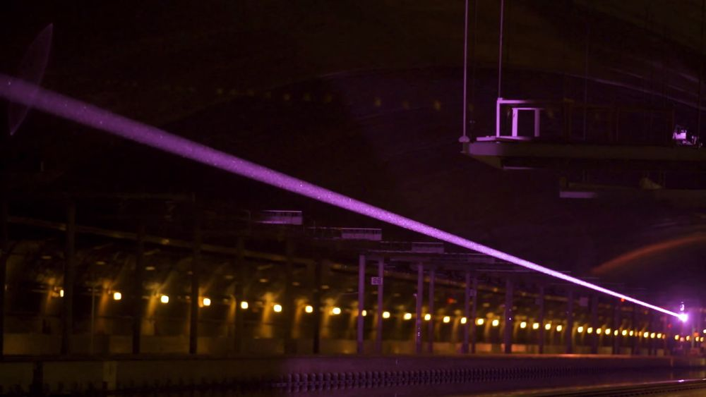 انتقال برق با لیزر