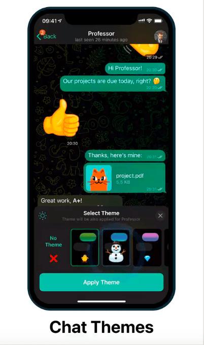 آپدیت جدید تلگرام منتشر شد: تم اختصاصی برای هر چت و مشاهده خوانندگان پیام در گروه