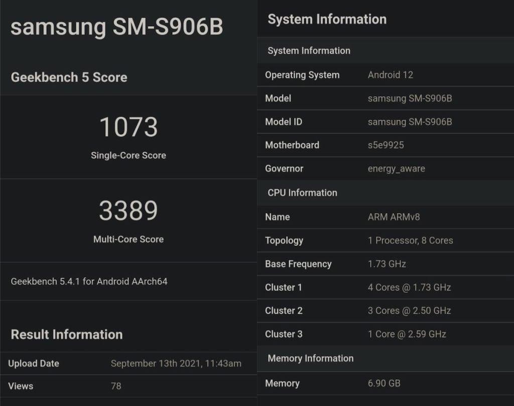 انتشار نتایج بنچمارک گلکسی S22 پلاس با تراشه اگزینوس مجهز به پردازشگر گرافیکی AMD