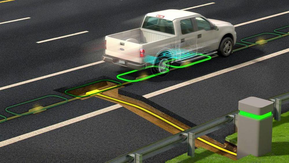 شارژذ بی سیم خودروهای بی سیم در حال حرکت