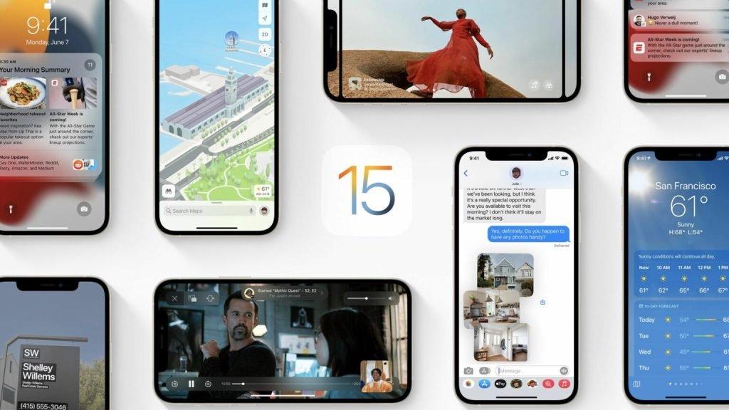 نصب آپدیت iOS 15