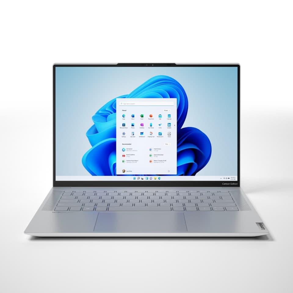 لنوو از باریکترین لپتاپ ۱۴ اینچی OLED بازار با پشتیبانی از ویندوز ۱۱ رونمایی کرد