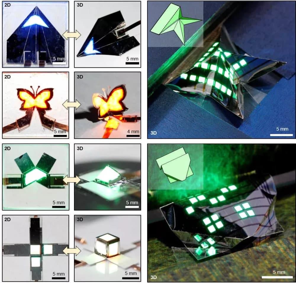 نمایشگر تاشویی که میتواند با ایجاد طرحهای اوریگامی، چندین بار تا شود [تماشا کنید]